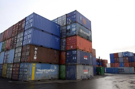 File image of containers at Dublin Port.