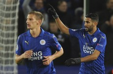 Mahrez takes Leicester to brink of Champions League last 16