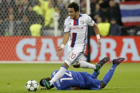 Rafael in action against Juventus tonight.