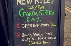 This Mullingar pub is introducing new rules for if and when the guards go on strike
