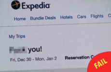 A travel website has apologised for sending a customer a 'F**k You!' email after a bad review