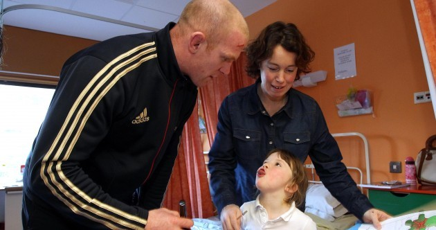 In pictures: Munster Rugby stars make hospital visit