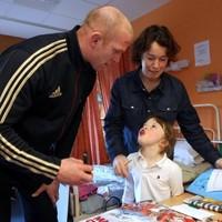 In pictures: Munster Rugby stars make hospital visit