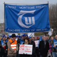 The Teachers' Union of Ireland won't be doing the work of its striking colleagues