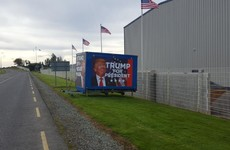 A big 'Trump for President' billboard has gone up in Waterford and people are confused