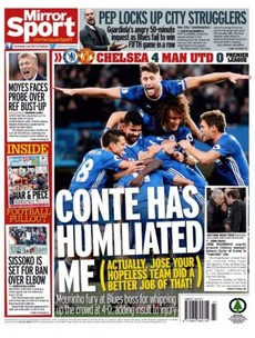 'The humiliated one': Monday's back pages make for pretty grim reading for Jose