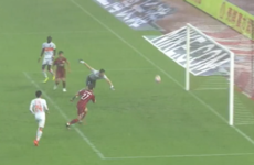 Papiss Cisse scores one of the strangest goals you'll see in the Chinese Super League