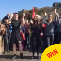 Irish dancers from Mayo and Dublin had a grand aul sesh on the Great Wall of China