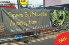 This highly unfortunate Lidl sign has been giving people a chuckle