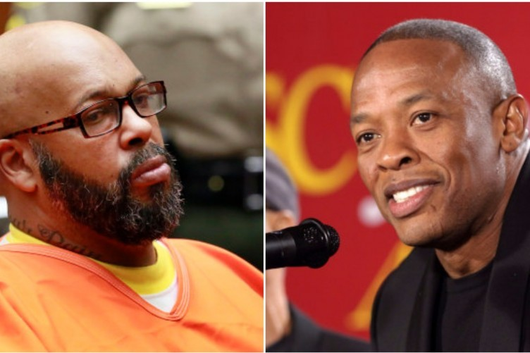 Suge Knight (L) and Dr. Dre (R) once co-founded Death Row Records before they fell out.