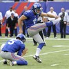 New York Giants sack kicker over abuse of his ex-wife