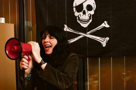 Birgitta Jonsdottir, co-founder of the Pirates.