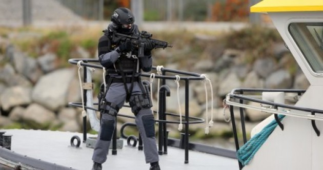 Photos: Gardaí deal with hostage situation in major emergency training at Louth Port