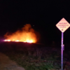 Three fire engines dealing with Howth gorse fire