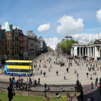 What would you use the pedestrianised College Green plaza for?