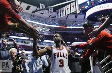 Dwayne Wade began his Bulls career in style at his Chicago homecoming last night