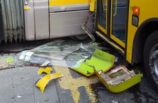 Luas crash: Eight hospitalised as tram and tourist bus collide in Smithfield