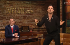 Robbie Williams sang a Joe Dolan tune with last night's Late Late Show audience