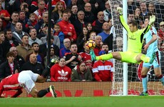Heroic Heaton denies 10-man United as Mourinho also sees red