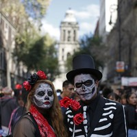 Day of the Dead: Mexico City mimics Spectre scene in a return to tradition