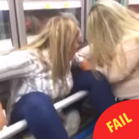 This woman managed to get her arse stuck in a supermarket freezer while on a night out