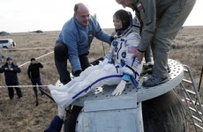 """Landing has taken place!"": Three astronauts return to earth after 115 days in space"