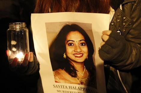 File photo of a picture of Savita Halappanavar.
