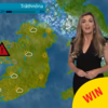 The TG4 weather presenter was 'struck by lightning' live on air last night