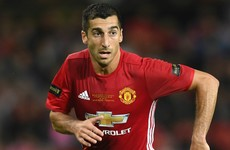 Henrikh Mkhitaryan included in Man United party for Fenerbahce