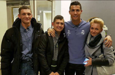 Ronaldo reunites with coma patient who woke to a replay of his goal for Portugal