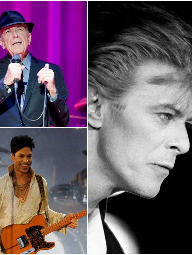 Bowie, Prince and Cohen: A year to remember musical genius