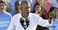 Obama warns voters the fate of the world is at stake in US election