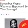 Vogue says 'cleavage is dead', but women with big boobs say 'LOL, good one'