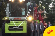 This bride and groom from Cork arrived at their wedding reception in a combine harvester