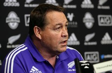 All Blacks coach Steve Hansen pays his respects to Anthony Foley