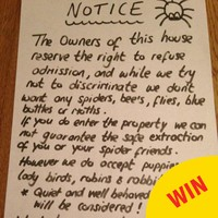 This Irish mam is sick of spiders invading her home, so she's giving them a written warning
