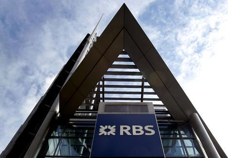 The facade of the Royal Bank of Scotland's London headquarters