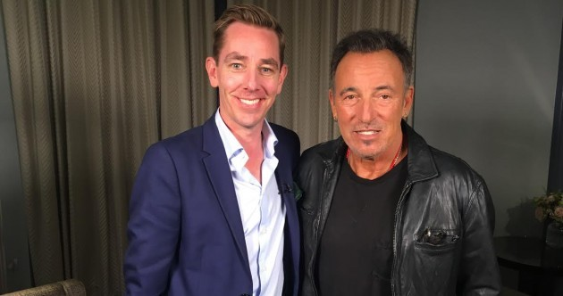Bruce tells Tubridy he still feels like a 'complete fake' in London interview