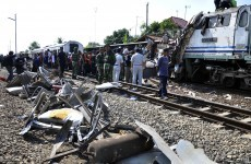 Train crash kills 36 in Indonesia