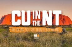 This 'CU in the NT' unofficial tourism slogan is blowing up in Australia