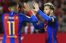 Neymar gives Lionel Messi lift on private jet