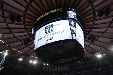 The UFC 205 open workouts took place yesterday at Madison Square Garden.