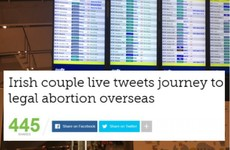 An Irish couple's trip to Liverpool for an abortion has gone viral on Twitter