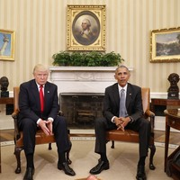 """Trump and Obama had an """"excellent conversation"""" at the White House today"""