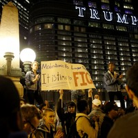 Second night of protests in US cities against Trump victory