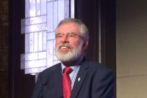 """Adams told Sinn Féin supporters that Brexit represents """"an opportunity""""."""