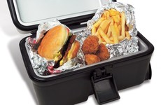 Hungry on the road? Try this portable stove that plugs into your cigarette lighter