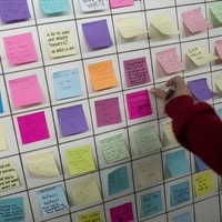 New Yorkers are leaving each other loving post-it notes to support each other after the election