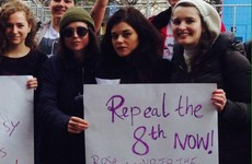 Actress Ellen Page supported the Repeal movement at an anti-Trump rally in Dublin today