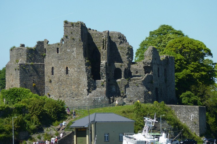The 12th century St John's Castle which looms over Carlingford